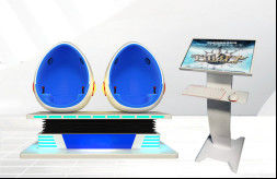 Infinity 360 Rotation 9D Egg VR Cinema Simulator 2 Seat Virtual Reality Chair Platform For Amusement Park